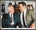 Stan with Albert Hofmann in his house at Berg, Switzerland