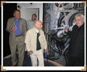 Hansruedi Giger taking Stan and Albert Hofmann on a tour through his museum in Gruyeres, Switzerland